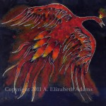 Creature of Fire: Firebird Enamel Tile
