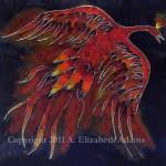 Creature of Fire: Firebird Enamel Tile