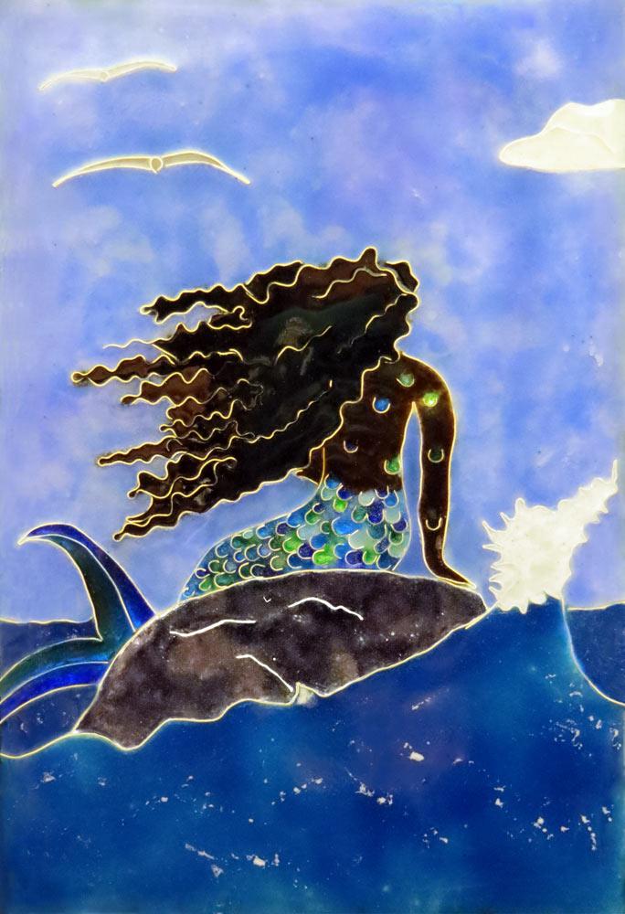 Lady of the Atlantic Crossing Art Tile