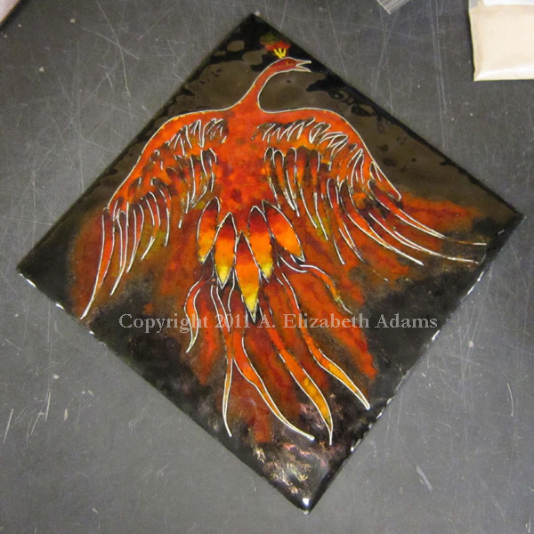 Firebird unmounted tile