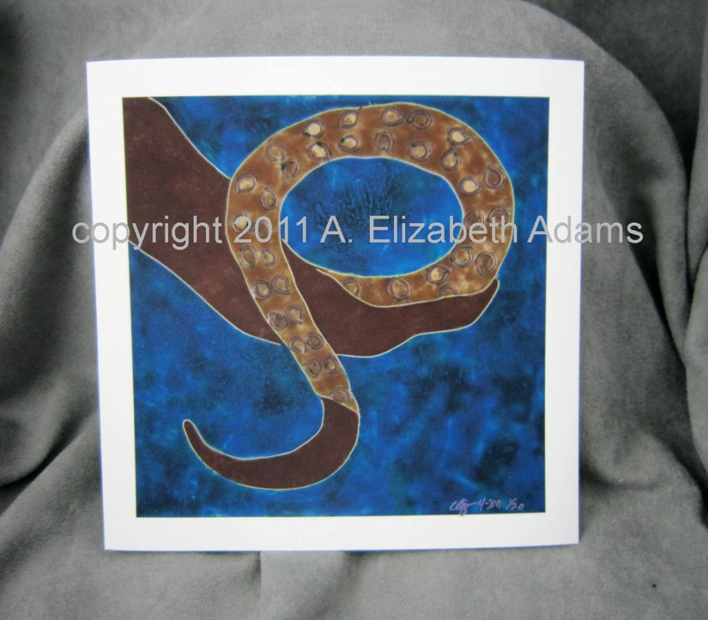 Tentacle unmatted print